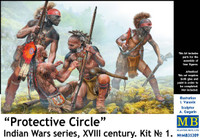Masterbox Models - Protective Circle,  Indians, XVIII Century