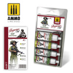 Ammo of MiG - IDF Uniforms Acrylic Paint Set
