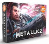 AK Interactive - Metallics Acrylic Paint Set