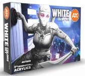 AK Interactive - White Acrylic Paint Set