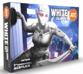 AK Interactive - 3rd Gen White Acrylic Paint Set