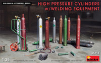 Miniart Models - High Pressure Cylinders (12) w/Welding Equipment