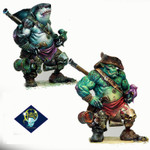 Aradia Miniatures - Dzhur-ghul the robber (orc / shark pirate)