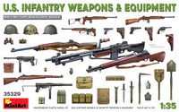 Miniart Models - WWII US Infantry Weapons & Equipment