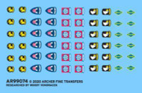 Archer Fine Decals and Transfers: Fabric Texture Patches - U.S. 82nd, 11th, 17th, and 101st Airborne Division patches 1/16th scale