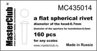 Masterclub - Flat Spherical rivet, head 0.7mm aperture 0.5mm 160 pcs.