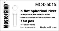Masterclub - Flat Spherical rivet, head 0.8mm aperture 0.6mm 140 pcs.