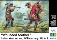 Masterbox Models - Indian War Series, XVIII Century - Wounded Brother