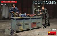 Miniart Models - Toolmakers (2) w/Workbench & Accessories