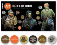 AK Interactive: 3rd Gen - Leather and Buckles Set