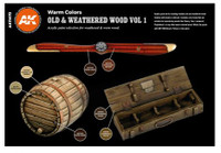 AK Interactive: 3rd Gen - Old and Weathered Wood Set 1