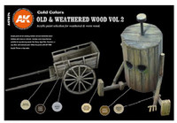 AK Interactive: 3rd Gen - Old and Weathered Wood Set 2