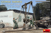 Miniart Models - German Tankmen with Gantry Crane & Maybach HL 120 Engine