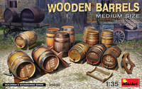 Miniart Models - Wooden Barrels, Medium Size