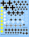 Archer Fine Decals and Transfers - German WWII Balkencruz Insignia (Various Styles & Colors)