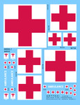 Archer Fine Decals and Transfers - US Ambulance Markings (Various Sizes)
