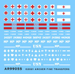 Archer Fine Decals and Transfers - Assorted US Helmet Markings