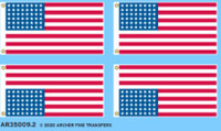 Archer Fine Decals and Transfers - US 48-Star Flags (2)