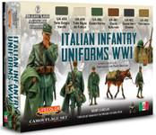 Lifecolor - Italian WWI Infantry Uniform Camouflage Acrylic Set