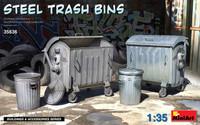 Miniart Models -  Steel Trash Bins, 1/35th scale