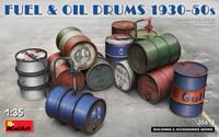 Miniart Models - Fuel & Oil Drums 1930-50s