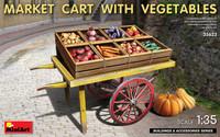 Miniart Models - Market Cart w/Vegetables & Wooden Crates