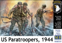 Masterbox Models - US Paratroopers w/Rifles, 1944