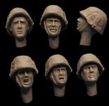 Firestorm Models - German Camo Cover Helmet Heads