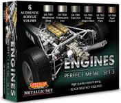 Lifecolor - Engines Metal Metallic #3 Acrylic Set