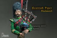 DG Artworks - Scottish Piper, Blackwatch