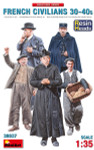 Miniart Models - French Civilians '30-'40s. Resin Heads