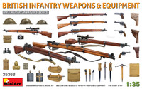 Miniart Models - WWII British Infantry Weapons & Equipment