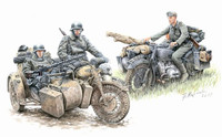 Masterbox Models - German Motorcycle Troops on the Move