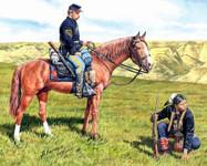Masterbox Models - Civil War Yankee Scout & Indian Tracker w/Horses