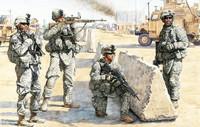 Masterbox Models - US Servicemen Checkpoint in Iraq