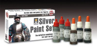 Andrea Miniatures - Silver Paint Set