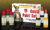 Andrea Miniatures - Gold Paint Set