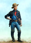 Andrea Miniatures: 7th Cavalry, 1876 - U. S. Cavalry Captain