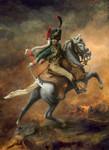 Andrea Miniatures: Classics In 90MM - Officer de Chasseurs de la Garde Imperiale, 1812