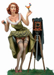 Andrea Miniatures: Pinup Series - Watch the Birdie!