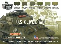 Lifecolor - WWII Camoflauge US Olive Drab Acrylic Paint Set