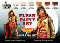 Lifecolor - Diorama Flesh Tone Acrylic Paint Set