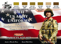 Lifecolor - WWII US Uniforms Set #1 Acrylic Paint Set