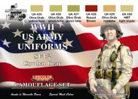 Lifecolor - WWII US Uniforms Combat Gear Acrylic Paint Set