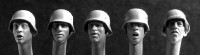 Hornet Model - Wearing German WWII Helmets # 2