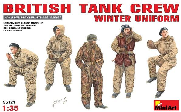 Miniart Models - WWII British Tank Crew, Winter Uniform
