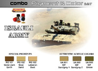 Lifecolor - Israeli Army Pigment & Color Acrylic Set