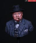 "Life Miniatures - ""Never Surrender"", British Prime Minister Winston Churchill"