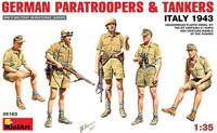 Miniart Models - German Paratroopers & Tankers, Summer Dress, Italy 1943