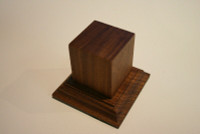 Wood Figure Pedestal Base 54mm